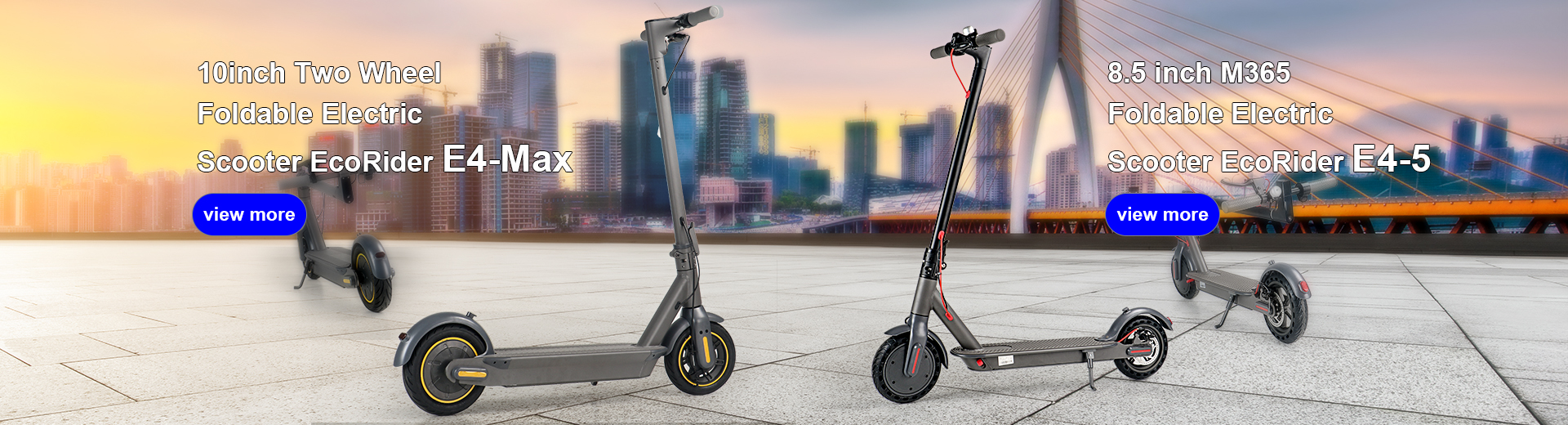 10inch Two Wheel  Foldable Electric  Scooter EcoRider E4-Max
