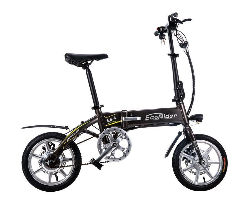 EcoRider E6-4 Mini Foldable Electric Bike